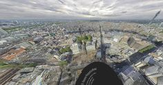 Checkout the largest 360 degree panoramic photo of London in the world (at 80 Gigapixels). Zoom, pan, tilt and show landmarks http://www.360cities.net/london-photo-en.html