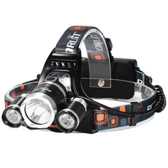 Super Bright Rechargeable Headlamp,3 Beads 4 Modes Led Head lamp Led Headlight 2*18650 Rechargeable Batteries USB Cable AC Charger Car Charger for Camping Fishing Hiking Hunting Outdoor Sports >>> To view further, visit http://www.amazon.com/gp/product/B00N1JU8OU/?tag=usefulcamp-20&puv=220716232624