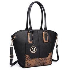 Miss Lulu Damen Klassische Handtasche Winged Schultertasche Groß Umhängetasche Taschen (6627 Rot und Schwarz): Amazon.de: Schuhe & Handtaschen
