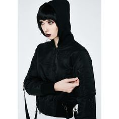 Killstar Goth Doll Street Bomber (150 AUD) ❤ liked on Polyvore featuring outerwear, jackets, black, goth jacket, gothic jackets, style bomber jacket, zip jacket and baby doll jacket