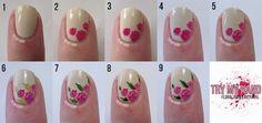 Uñas Decoradas Con Flores | Decoración de Uñas - Manicura y Nail Art