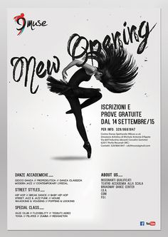 9 muse dance studio logo poster