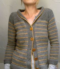Paulie cardigan: lovely in these colours, but would probably work in the Old Piggery Loganberry too...