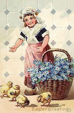 Easter Greetings Easter Series Raphael Tuck & Sons Type: Divided Back x x 14 cm) Easter Songs, Easter Art, Vintage Cards, Vintage Postcards, Vintage Images, Tinkerbell, Easter Illustration, Easter Wallpaper, Easter Story