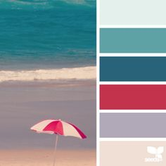 oday's inspiration image for { beached hues } is from @thebungalow22 ... i love that pop of red against the sophisticated harmonies of