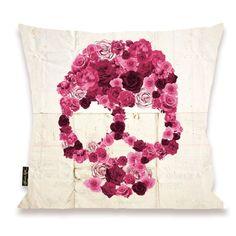 Strawberry Skull Pillow - Oliver Gal Art