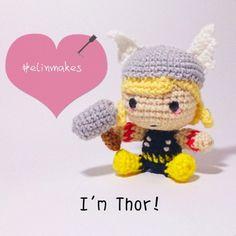 Thor chibi amigurumi