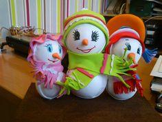 Fofuchas muñecos nieve