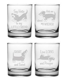 This Dachshund Rocks Glass - Set of Four is perfect! #zulilyfinds