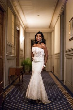 Blushing bride Stephanie Okereke in a stunning Elie by Elie Saab 2012 Collection dress!