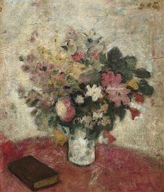 Flower Vase By Georges d´ Espagnat