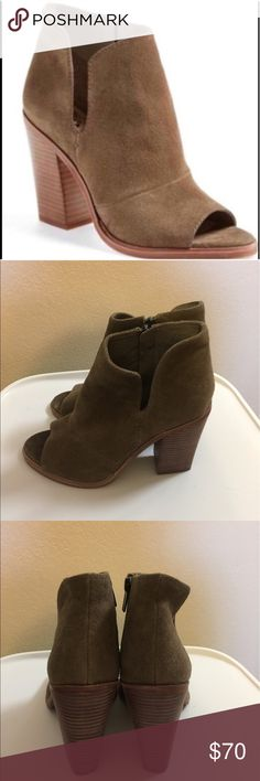 Vince Camuto Katleen Peep Toe Booties Vince Camuto Katleen Peep Toe Booties. Size 7. Worn once and like new! Vince Camuto Shoes Ankle Boots & Booties