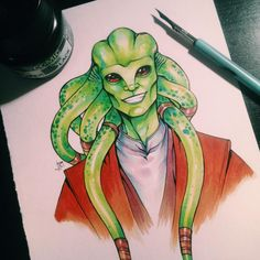 """lorna-ka: """" Slowly but steadily coloring the left overs from inktober (: this is one of my favorites """""""