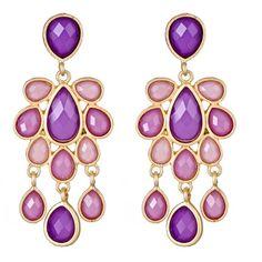 #Amethyst #Chandelier #Earrings <3