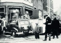 Rotterdam: Noordplein bij de Zwaanshals met een ernstig ongeval omstreeks 1954