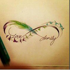 Tattoo infinity love family