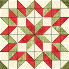 Free Christmas Quilt Patterns | With so many half-square triangles, I wanted to do SOMETHING with them ...