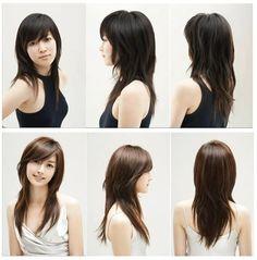 552113235538538195 Layered medium length haircut with side bangs