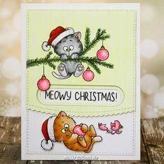 Diy Christmas Cards, Handmade Christmas, Holiday Cards, Christmas Tree, Christmas Kitten, Christmas Drawing, Winter Karten, Harry Potter Birthday Cards, Karten Diy
