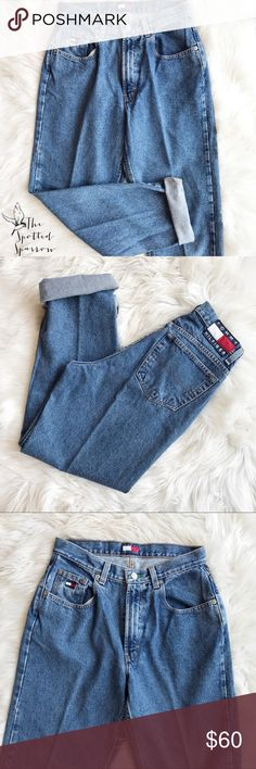"""FLASH SALE Vintage Tommy Hilfiger Mid-Rose Jeans Oh.My.God.Becky.  Look at those jeans. In excellent vintage condition. Rock this iconic 90's style in confidence since the rise of these is so flattering to any body shape!!! Medium / light wash. Size 10. 100% cotton. Waist - 15"""", rise - 11.5"""", inseam - 30.5"""". Tommy Hilfiger Jeans Boyfriend"""