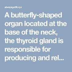 A butterfly-shaped organ located at the base of the neck, the thyroid gland is responsible for producing and releasing hormones which regulate metabolism as well as other body functions, including …