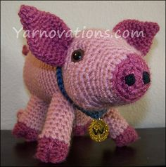 Pork Chop - Pig and Wild Boar - $3.99 by Yarn Twins