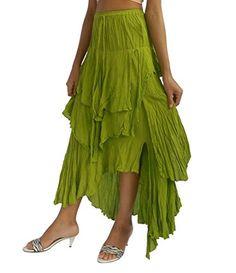 Bonya Women's Bohemian/Hippies Ruffle Maxi Long Skirt (Green) Bonya Collections http://www.amazon.com/dp/B01497ML2E/ref=cm_sw_r_pi_dp_r4PLwb001D3DR