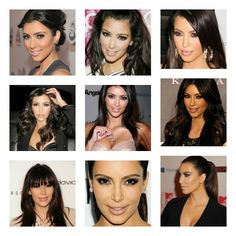 Beautiful Hair & Makeup Pics - Of The One And Only Gorgeous Kim Kardashian..Love Them All.* <3