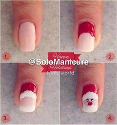 Santa nails #DIY #Christmas