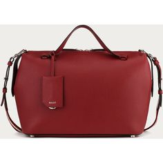 Bally KISSEN MEDIUM Women's medium red leather bowling bag ($995) ❤ liked on Polyvore