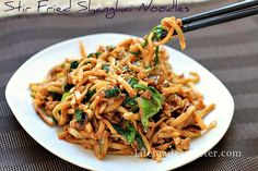 The easiest MOST flavorful fried Shanghai Noodles w/ the BEST authentic sauce! Only 20 minutes to enjoy this popular Chinese dish & it's always a favorite.