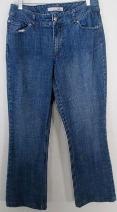 f08e0d1176 Chicos Platinum Denim Capri Short Jeans Women s Embellished Back Pockets SZ  1  Chicos  CapriCropped