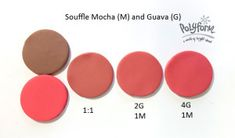 May 2 - souffle mocha and Guava ~ Polymer Clay Color Mix