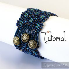 TUTORIAL Lozenge Bracelet Beaded Angle Weave with by gwenbeads, $9.00