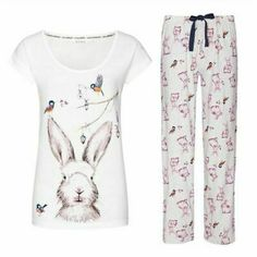Lip Print Glitter PJs pyjamas by Avon sizes 10-24 NEW sealed in bag