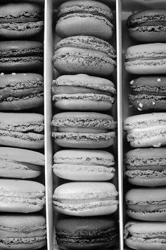 Serving White, Black and Silver Macaroons
