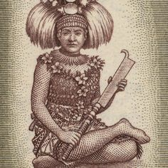 Western Samoa Chieftainess 13 x 7.5 Mounted Canvas by pastpostage, $39.00