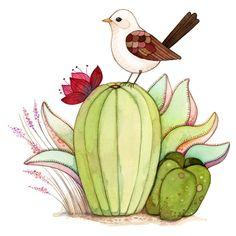 Watercolor print bird art print Cactus painting Desert by joojoo Cactus Painting, Cactus Art, Painting & Drawing, Watercolor Bird, Watercolor Illustration, Watercolor Paintings, Bird Illustration, Bird Wall Art, Cute Art