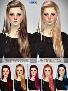 Jennisims: Downloads sims 4: Butterflysims 099,132,136 Hairs retextured