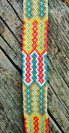 Aztec Triangle Cuff Friendship Bracelet Love the colors!