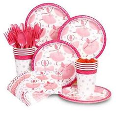 Cute Ballet Birthday Party Paper Products.