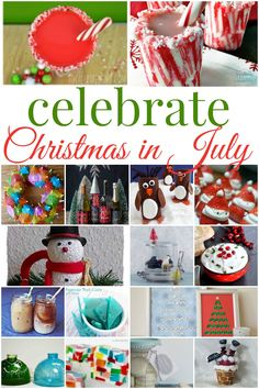 Our Good Life: Christmas in July Celebrate Christmas in July with this wonderful round up of activities! Christmas In July Decorations, Christmas Party Games, Christmas Decor, All Things Christmas, Christmas Holidays, White Christmas, Outdoor Christmas, Xmas, July Holidays
