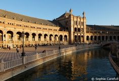 Plaza de espana - Seville.  You can rent small boats to row in the canal!!!