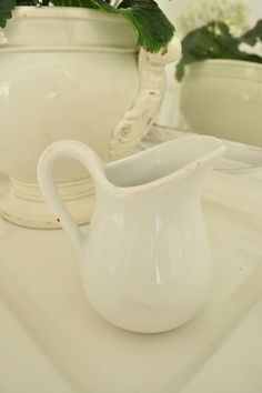 French Ironstone Milk Jug