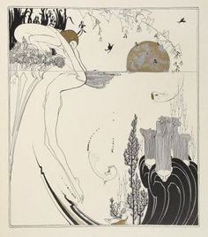 skizzen zeichnen Love the pen-and-ink work of Ray Frederick Coyle, a Bay Area artist/designer circa the It's very Aubrey Beardsley, another fave. Art And Illustration, Motif Art Deco, Jugendstil Design, Creation Art, Alphonse Mucha, Ink Drawings, Gravure, Vintage Art, Vintage Drawing