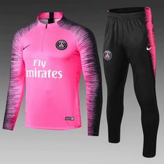 32ff4fbea4e5 PSG 18 19 Pink Men Tracksuit Slim Fit 2 – zorrojersey Casual Tops