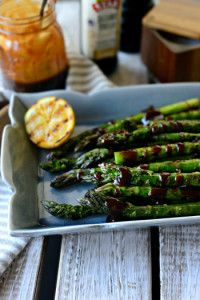 Grilled Asparagus with Balsamic Honey #STARFineFoods