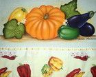 Panos de prato frutas e legumes