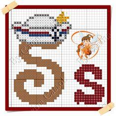 Boa sexta-feira! Hoje o Mickey resolveu navegar por essas bandas Aqui o gráfico E aqui o monograma da minha fadinha amiga Carina ...