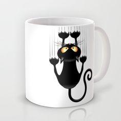 http://society6.com/BluedarkatLem/Black-Cat-Cartoon-Scratching-Wall_Mug#27=199